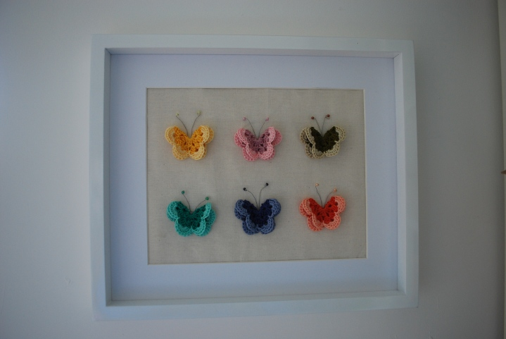 Crochet framed Butterflies