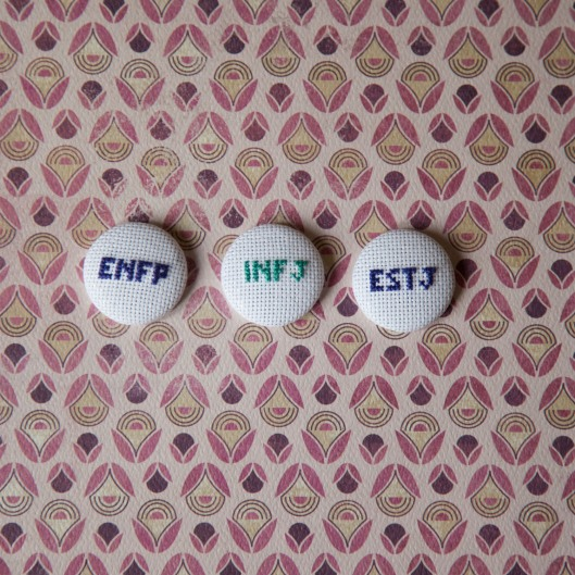 cross stitch mbti type badge