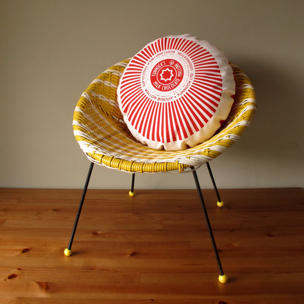 Tunnocks teacake cushion