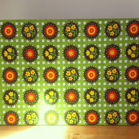 Fabric covered pin board