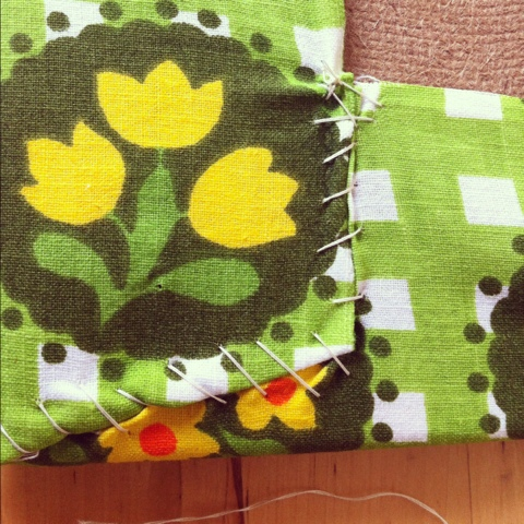 Fabric covered pin board