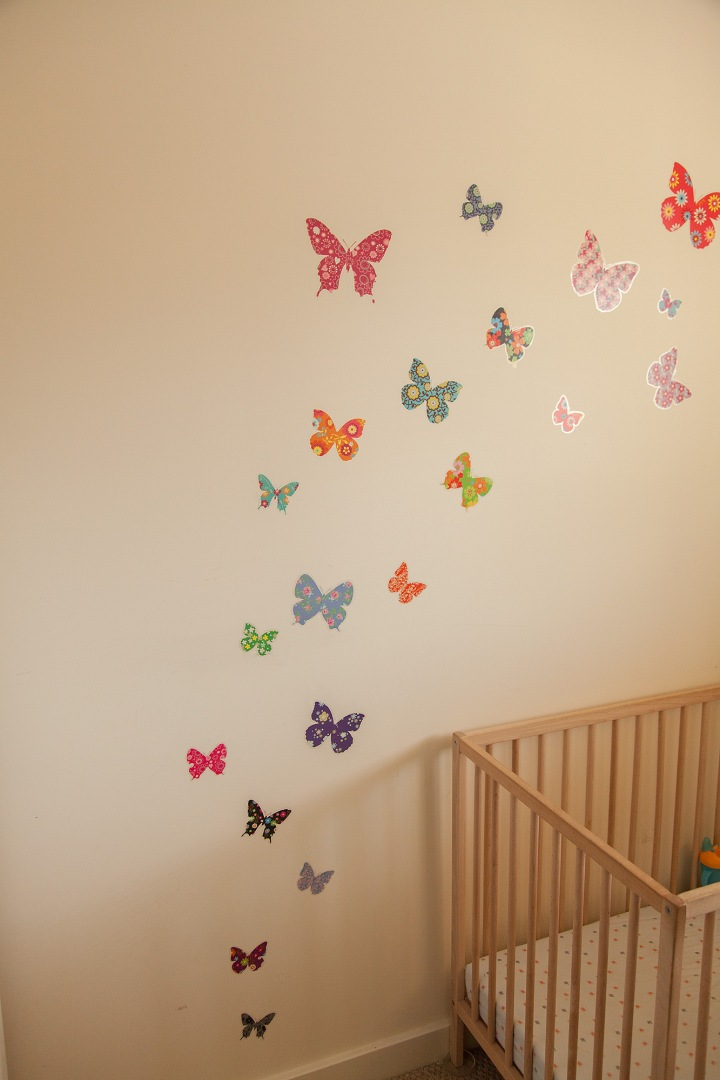 Dotty Frog Butterfly wall stickers