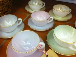Gorgeous Arcopal china tea cups