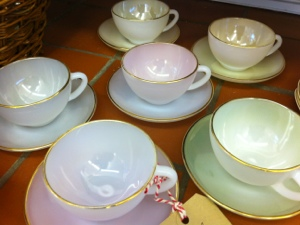 Gorgeous Arcopal china tea cups