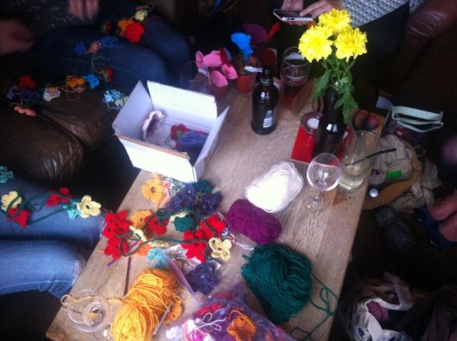 Yarn bomb HQ